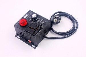 Image 3 - תצוגת Led AC 220V 4000W SCR אלקטרוני מתח רגולטור טמפרטורת מנוע מאוורר מהירות בקר דימר חשמלי כלי