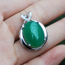 LANZYO 925 Sterling Silver Pendants Natural Chalcedony fine wedding Jewelry for women wholesale td1008