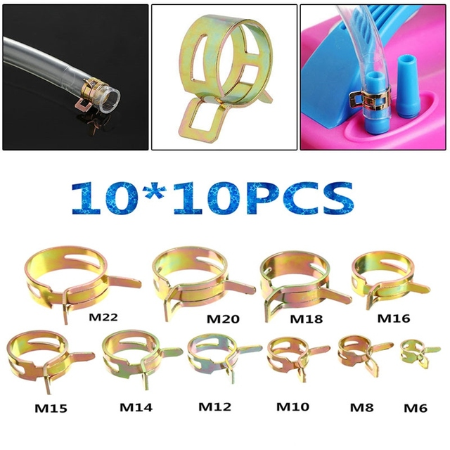 100PCS 6 22mm Spring Steel Clip Hose Clamp Fastener Fuel Line Hose Water Pipe Air Tube_640x640 100pcs 6 22mm spring steel clip hose clamp fastener fuel line hose water pipe air tube automobile car tubing accessories in clamps from home