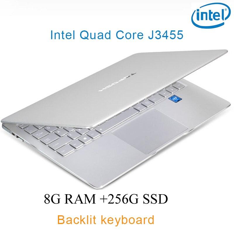 """256g ssd כסף P9-18 8G RAM 256G SSD Intel Celeron J3455 21"""" מחשב שולחני מחברת משחקים ניידת עם מקלדת מוארת (1)"""