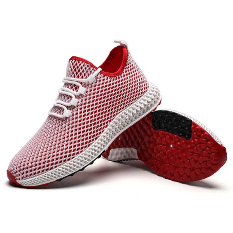 Mens Mesh รองเท้ารองเท้าฤดูร้อนรองเท้าผ้าใบแฟชั่น Casual รองเท้า Krasovki Light Tenis Masculino วิ่งชายรองเท้ากลางแจ้ง