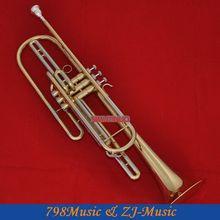 Золотая басовая труба Bb ключ 3 монельные клапаны рог с чехлом