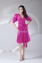 безкоштовна доставка 2013 офіційні сукні скромні сукні з рукавами сукня сукні плюс розмір короткий бант троянди червоний вечірня сукня