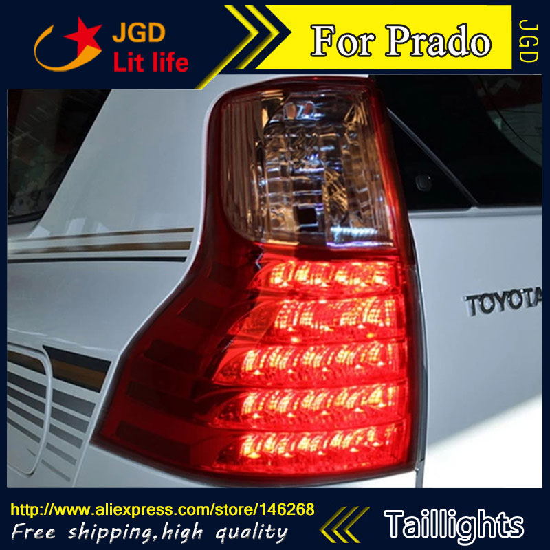 Car Styling tail lights for Toyota Prado 2011 2012 2013 LED Tail Lamp rear trunk lamp cover drl+signal+brake+reverse car styling tail lights for hyundai santa fe 2007 2013 taillights led tail lamp rear trunk lamp cover drl signal brake reverse