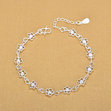 925 Silver Plum Frosted Beads Hollowed Bracelets 925 Fashion Bracelets Fine Fashion Bracelet Jewelry For Woman Gift