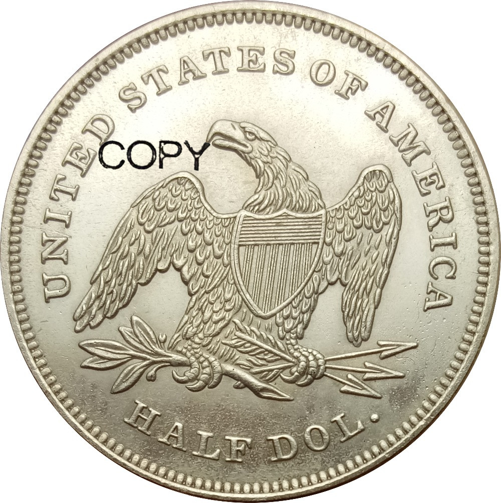 United States 1839 Liberty Seated Half Dollar No Drapery From Elbow 90 Silver Copy Coins