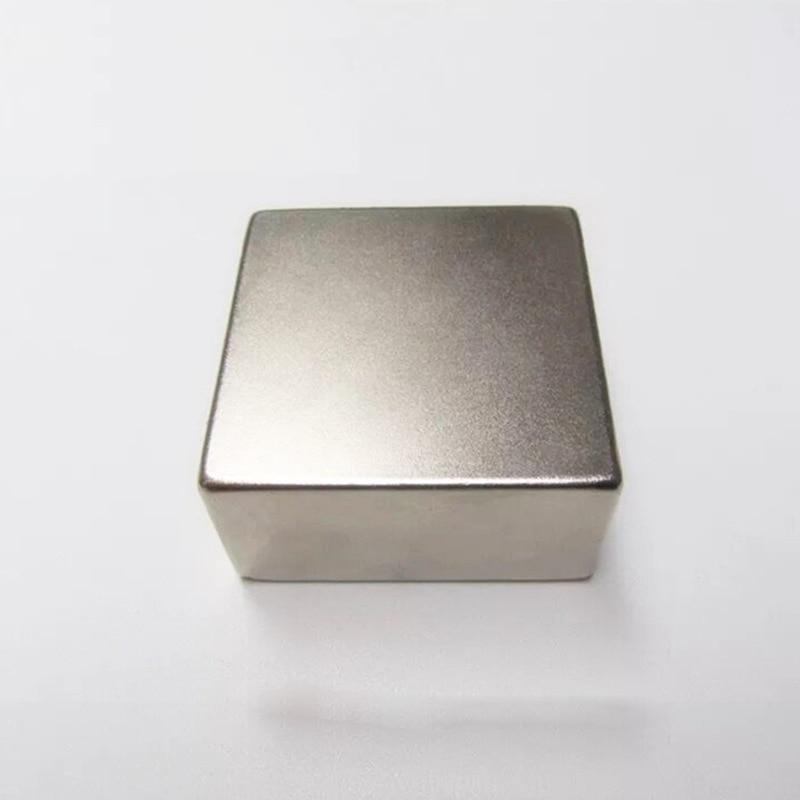 1 PCS N52 50x50x25mm Bloc Aimant Super Forte Rare Earth Néodyme Aimant