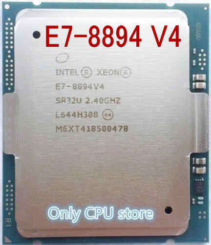 original Intel Xeon Processor E7-8894 V4 LGA2011-1 E7-8894V4 24-Core Processor CPU E7 8894 V4