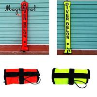 4ft High Visibility Dive SMB Surface Marker Buoy Signal Tube & Oral Inflator Saefty Scuba Diving Snorkeling Equipment 2 Colors