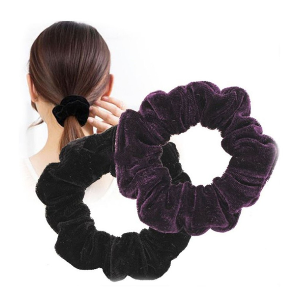 10 Pcs Autumn Winter Retro Gold Velvet Contracted Temperament Hair Band Fresh Cloth Art Headband Hairpin For Woman And Girl