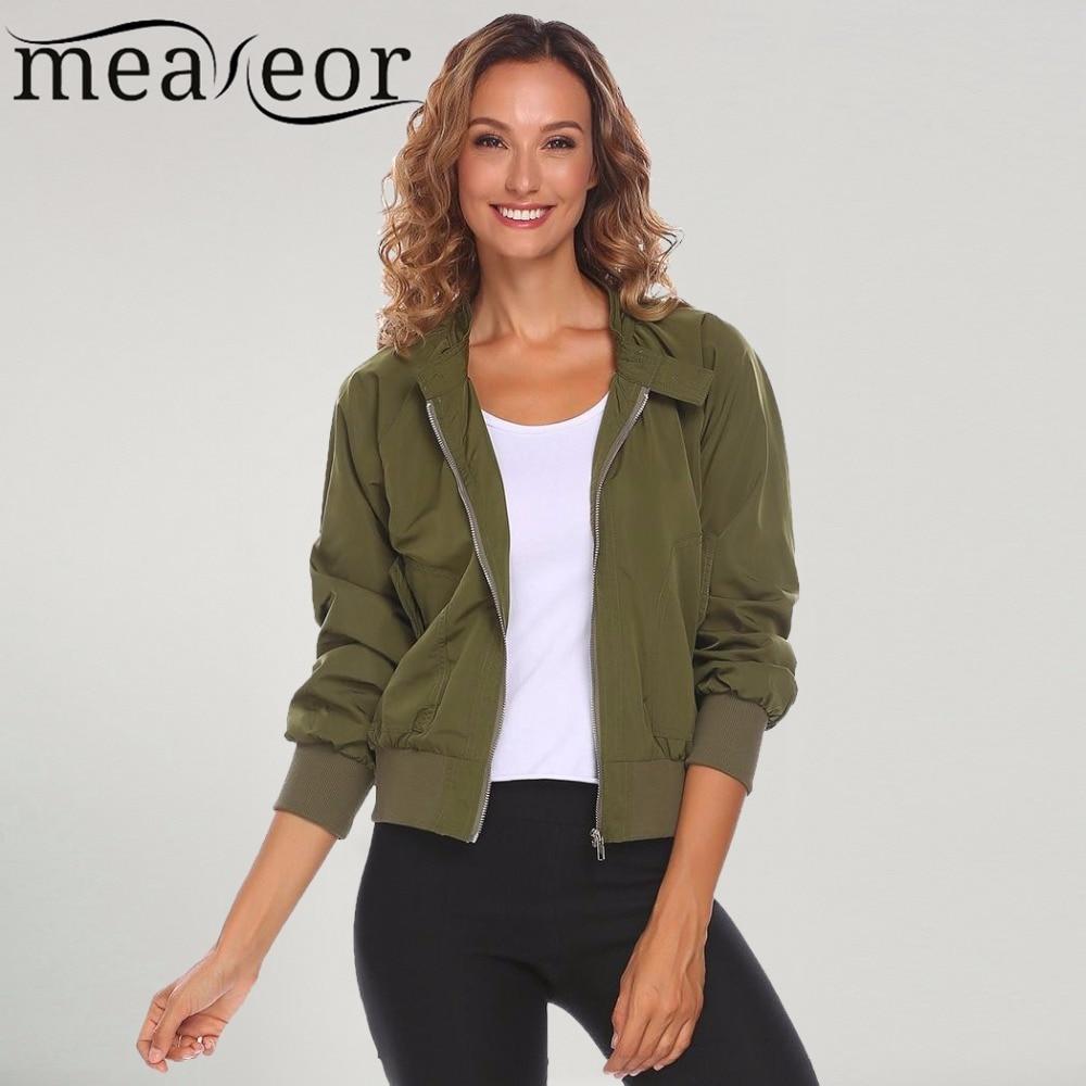 Meaneor Autumn Jackets Coats Women Casual Long Sleeve