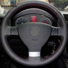 Автомобиль-Стайлинг кожаный руль автомобиля покрывает автомобильные аксессуары для Volkswagen Golf 5 Mk5 VW Passat B6 Jetta 5 mk5 Tiguan 07-2011