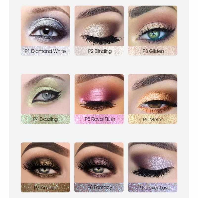 IMAGIC 9 ألوان جديدة فضفاضة الصباغ بريق لامع ماكياج لامع التألق مسحوق الماس عيون فضفاضة الجسم Maquiagem