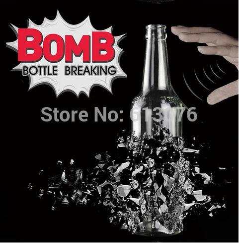6 pcs/lot tour de bouteille auto-Explosion, 18cm de haut/bouteille briser tours de magie magiciens accessoires de scène Gimmick mentalisme Magica