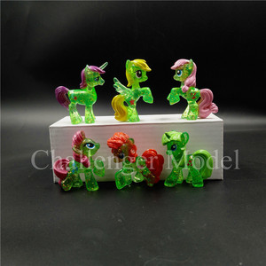 Image 2 - 6 Pcs/set 3 5cm Cute PVC Unicorn Pony Princess Action Figures Toy Doll Earth Ponies Pegasus Alicorn Bat Figure Dolls For Girl