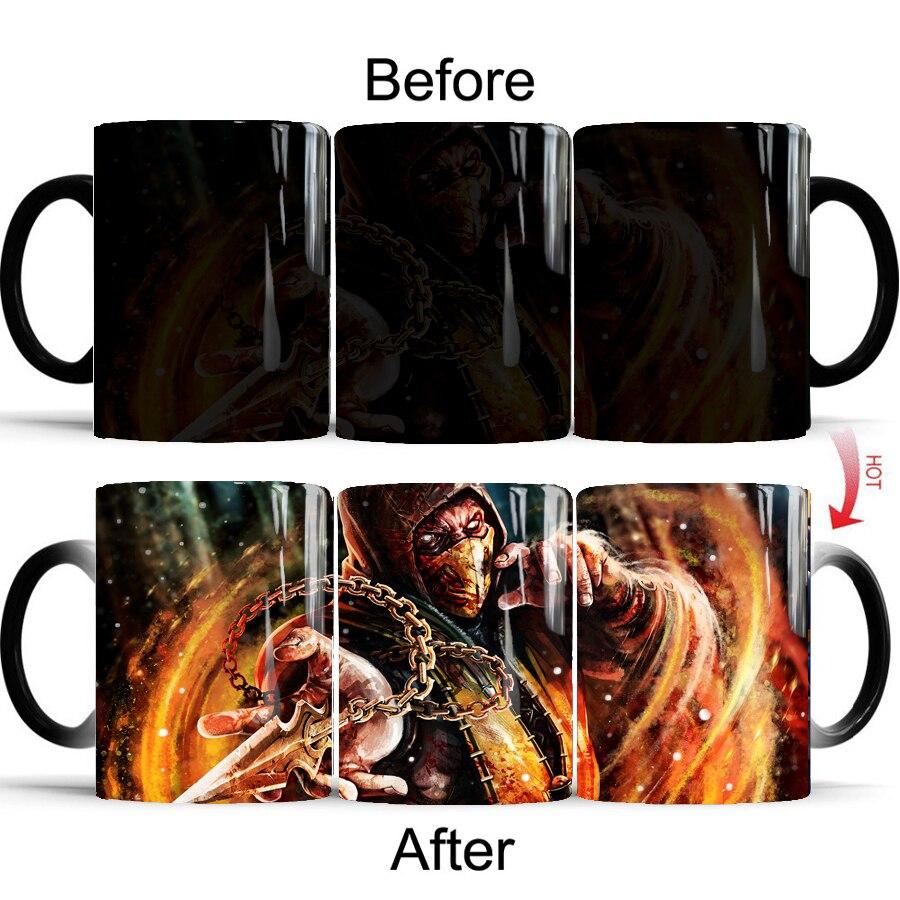 Game Mortal Kombat mug 350ml magic heat sensitive coffee Mugs Color Changing Mug drop shipping