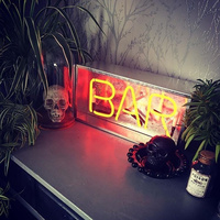 Led Neon Sign Light Neon Pub Holiday Xmas Party Wedding Decorations Table Night Lamp Home Wall Decor BAR Flamingo Neon Yellow