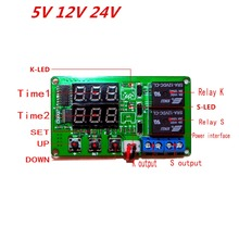 Two digital display time relays Dual Four independent ranges Timing delay cycle