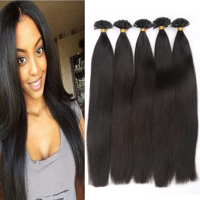 7a Hot Fusion Hair Extensions Brazilian Virgin U Tip Hair 1b