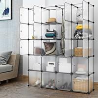 20 Cubes Блокировка модульный органайзер для хранения стеллажей шкаф гардероб стойка с дверями для домашней одежды обувь игрушки для хранения