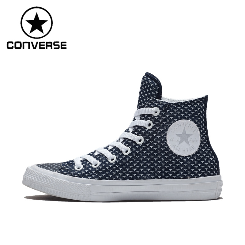 Original New Arrival 2017 Converse Unisex High top Skateboarding Shoes Canvas Sneakers цена