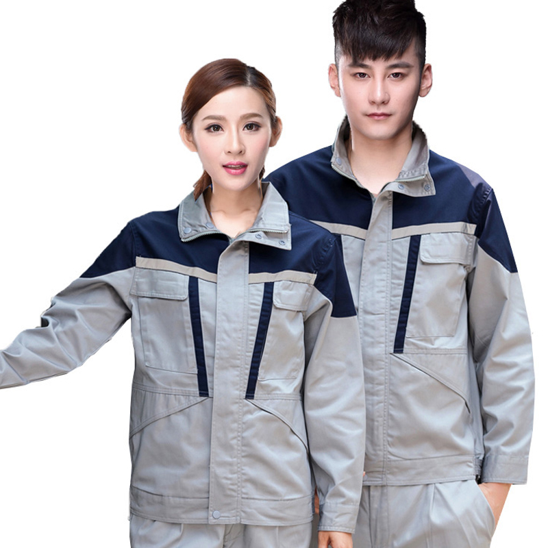 Siamese Uniforms For Men Women Worker Clothing Workwear Suit Stand-Collar Car Wash Repairman Machine Welding Worker Uniforms