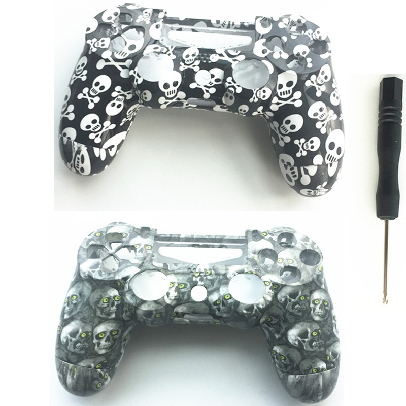 Front Back Skull Style Custom Housing Shell Case Cover Skin Repair For Sony Playstation 4 PS4