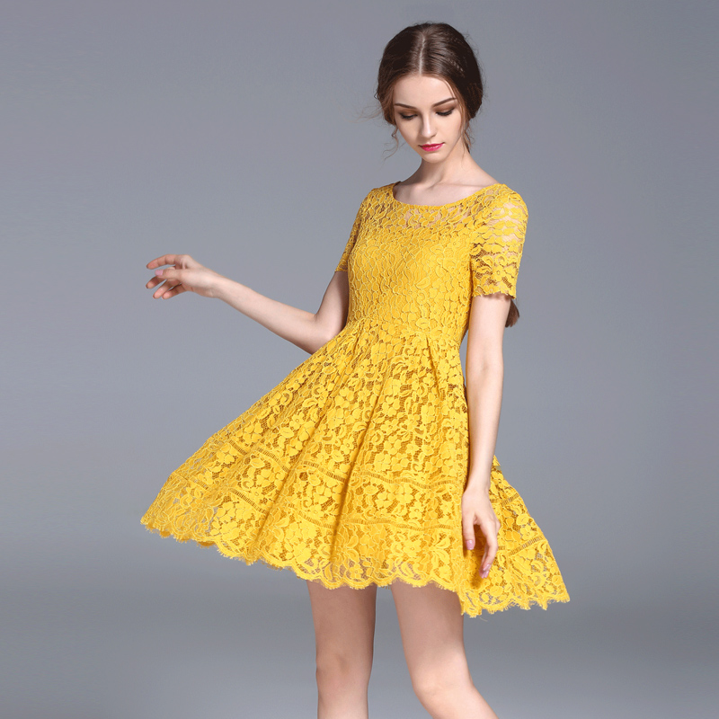 Online Buy Wholesale yellow short dresses from China yellow short ...