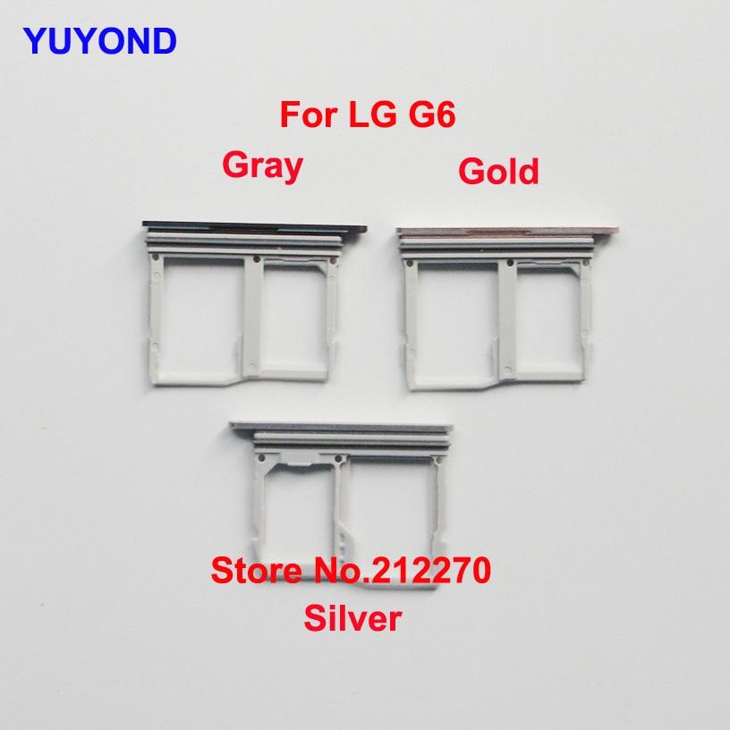 YUYOND Nano Sim Micro SD Card Tray Slot Holder For LG G6 Sim Card Tray Holder