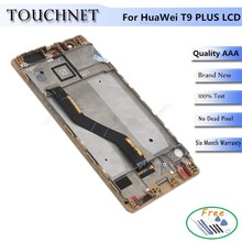 2Pcs /lot 100% New Touch Screen Digitizer With Frame LCD Display For Huawei P9 Plus LCD Display Smartphone