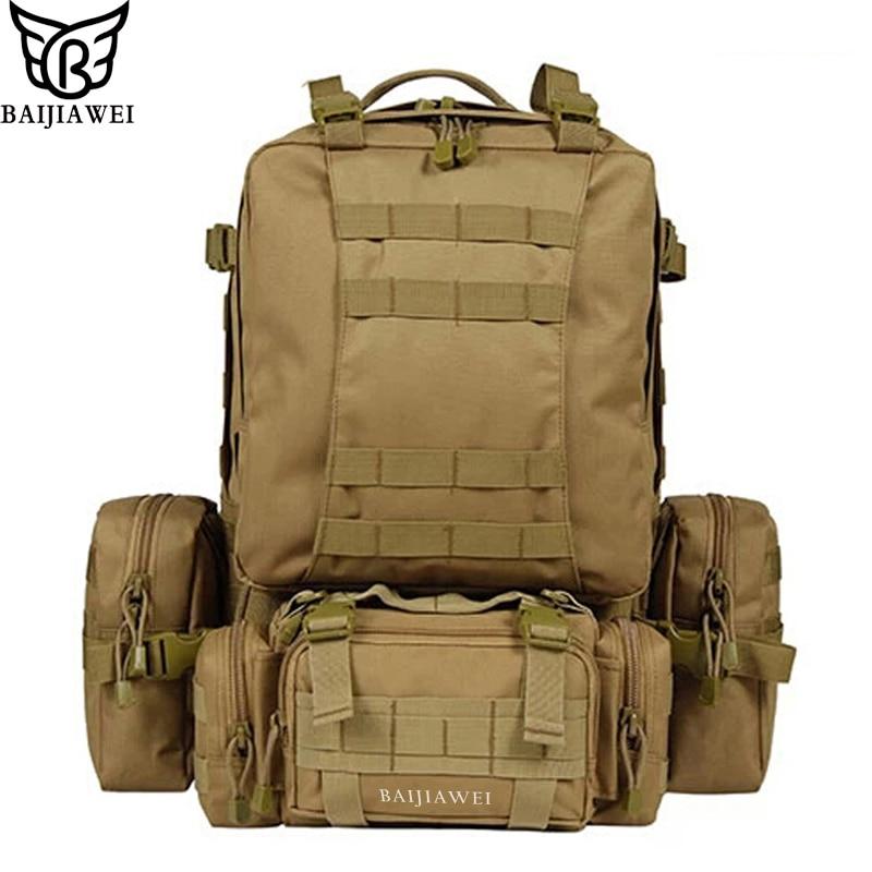 BAIJIAWEI 80 Liters Large Capacity Multifunction Mens Travel Backpack High Quality Removable Trekking Rucksacks Men Backpacks