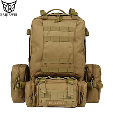 Baijiawei 80 litros grande capacidade multifuncional mochila de viagem dos homens de alta qualidade removível trekking mochilas mochilas homens