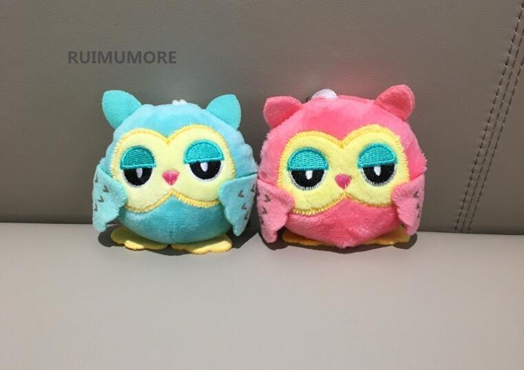 Sweet 2colors - Owl 9cm Key Chain Toys , Plush Stuffed Animal Owl Toy , Small Pendant Dolls , Wedding Party Gift Plush Toys