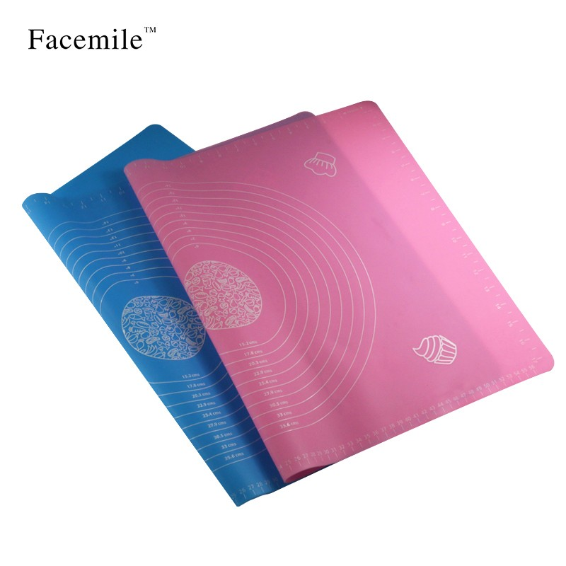 FACEMILE Silicone Cake Fondant Mat Baking Pad Pastry Cookie