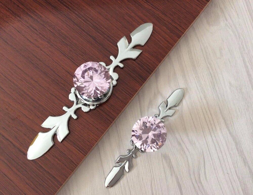 glass kitchen cabinet knobs pulls hardware pink crystal dresser handles font handle knob drawer