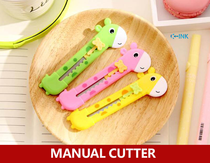 20pcs / Lot , Giraffe Mini Manual Cutter For Kids , Cute Envelope Opener Letter Cutter , Mini Paper Cutter Knife