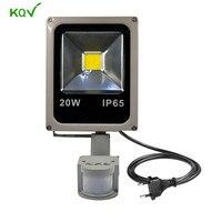 PIR Projector Lamp Led Flood Light 10W 20W 30W 50W 100W Floodlight Motion Sensor Outdoor Spotlight