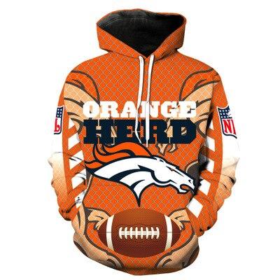 HOT Full Size Denver Broncos Fan NFL Women Men Hoodie Sweatshirt Sport  Print 3D 0525afdd2
