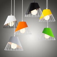 Modernen minimalistischen design Nordic eisen farbe bar restaurant schlafzimmer nacht fenster einzigen kopf lampe Pendelleuchten Licht & Beleuchtung -