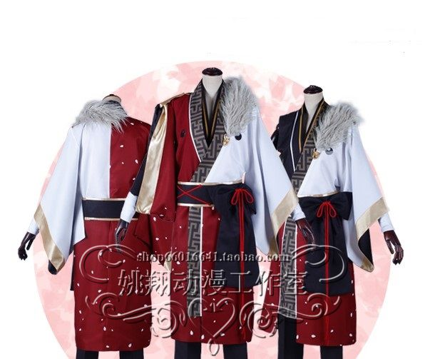 Hot Anime jeu Ensemble Stars cosplay Kiryu Kuro cos Halloween party costume unisexe (manteau + chemise + pantalon + ceinture + bandage)