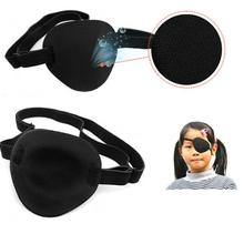 Drop shopping New Design Medical Use Concave Eye Patch Groove Washable Eyeshades Adjustable Strap Health Care Black Color