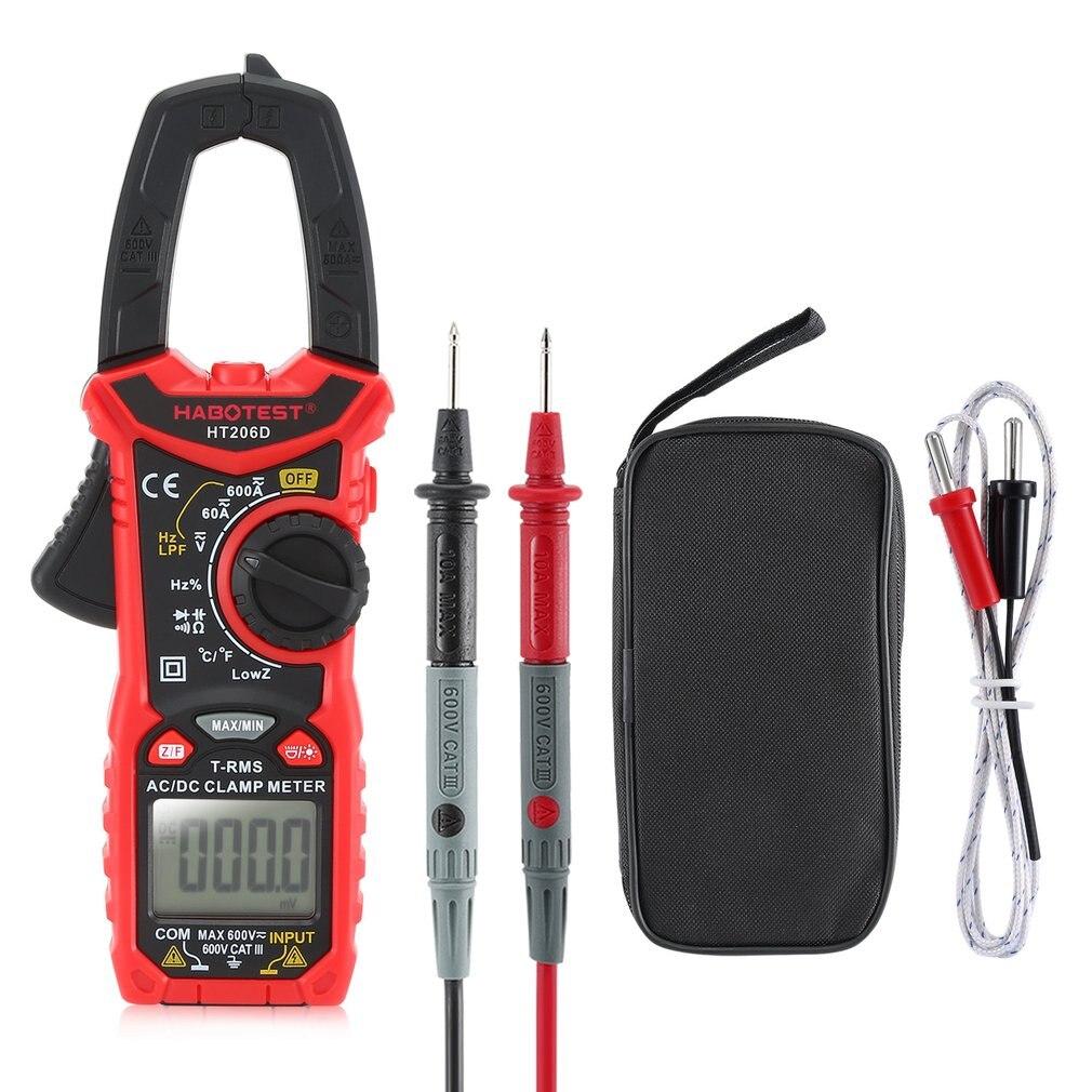 HABOTEST Digitale NCV Clamp Meter Multimeter Auto Range True RMS AC/DC Volt Amp Widerstand Temp Kapazität Frequenz Tester-in Multimeter aus Werkzeug bei