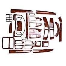 Wood Color Trim Panel Cover 2003 2004 2005 2006 2007 2008 2009 Car Styling For Toyota Land Cruiser Prado FJ120 Accessories for toyota prado fj120 lc120 2700 4000 back side bumper light 2003 2008 red color