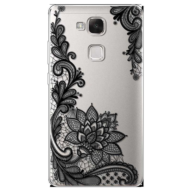 Case For Huawei Ascend Mate 7 Case Silicone Ultra Thin Soft TPU Rubber Transparent Clear Back Cute Cartoon Print Cover