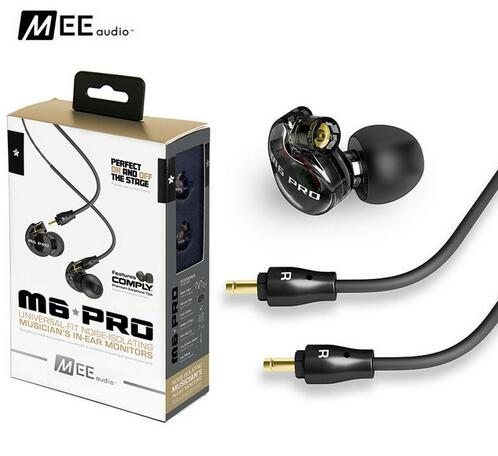 2017 high quality MEE audio M6 PRO headphones Universal-Fit Noise-Isolating earphones Musician's In-Ear Monitor headset PK SE315 dhl free 2pcs black white m6 pro universal 3 5mm wired in ear earphone noise isolating musician monitors brand new headphones
