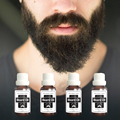 3 bottles treatment 100% Natural Beard care oil accelerate moustache hair serum facial hair grower products beard growth essence