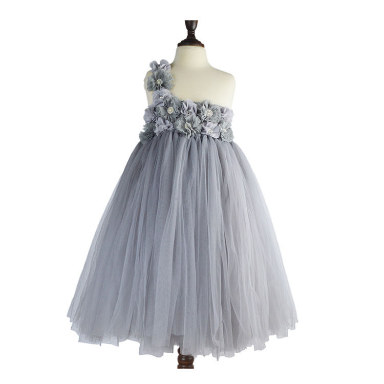 Baby Cartoon flower Pattern Dress High Quality Tulle Tutu clothes Girl Christmas Costume girl dresses for party and wedding 2017 кузнецов с б метро 2033 мраморный рай