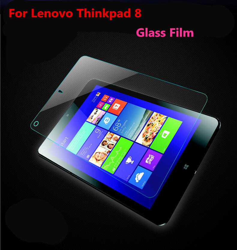 Lenovo Thinkpad 8 Tempered Glass Tablet 2.5D 9H HD Clear Screen Protector Qoruyucu Film üçün