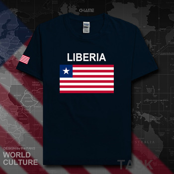 Liberia Liberian t shirt fashion 2018 jersey nation team 100% cotton t-shirt gyms clothing tees sporting tshirt LR LBR summer 02 image