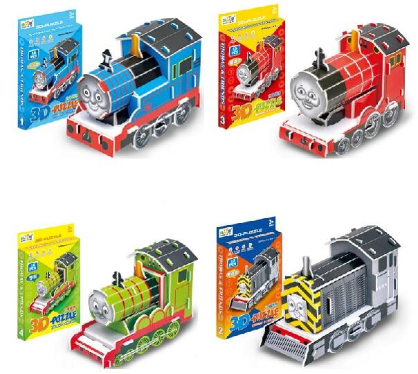 4pcs/lot DIY Thomas & Friends 3d puzzles children's